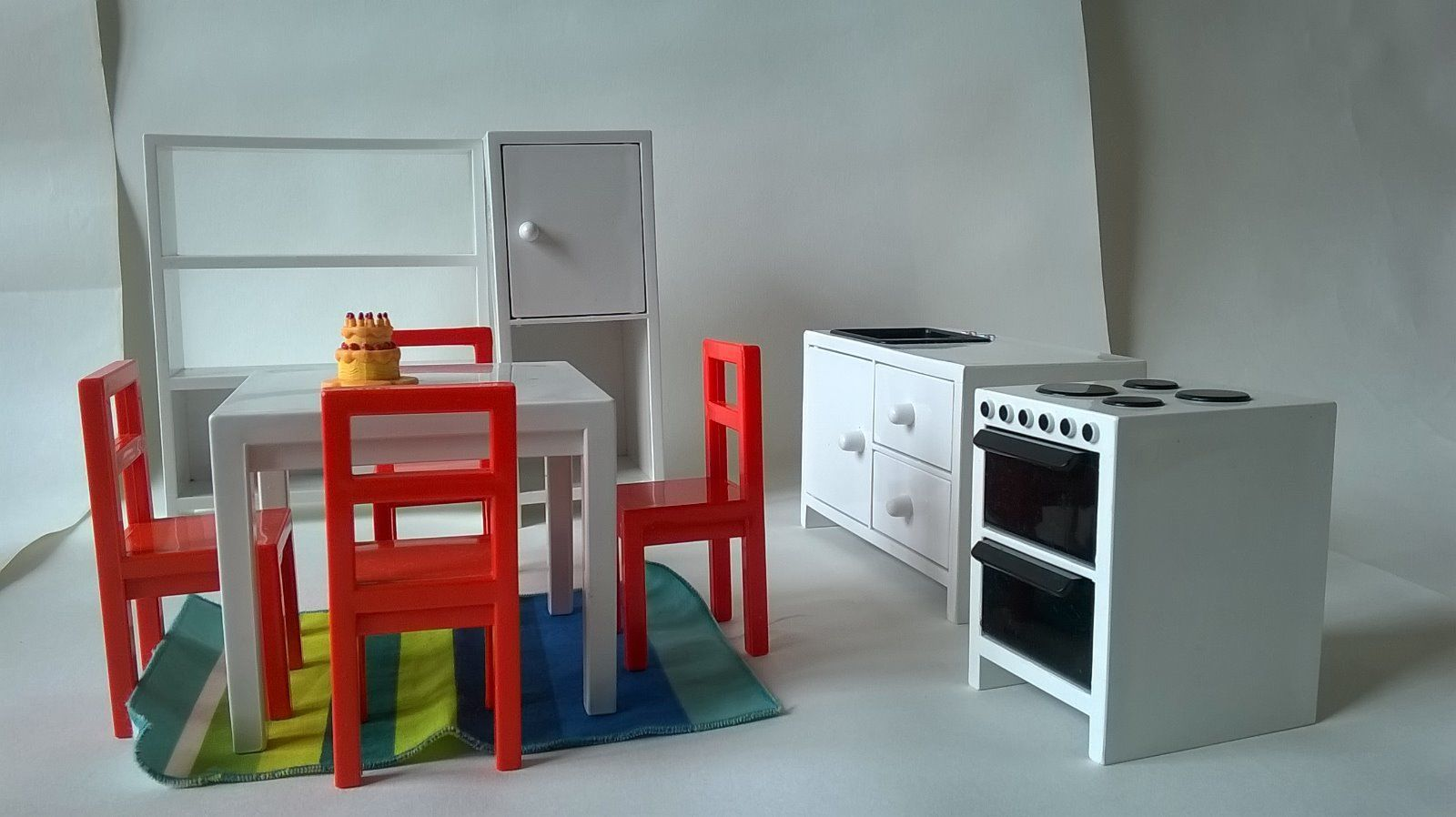 Ikia Kids dolls House Furniture Wooden and plastic Set