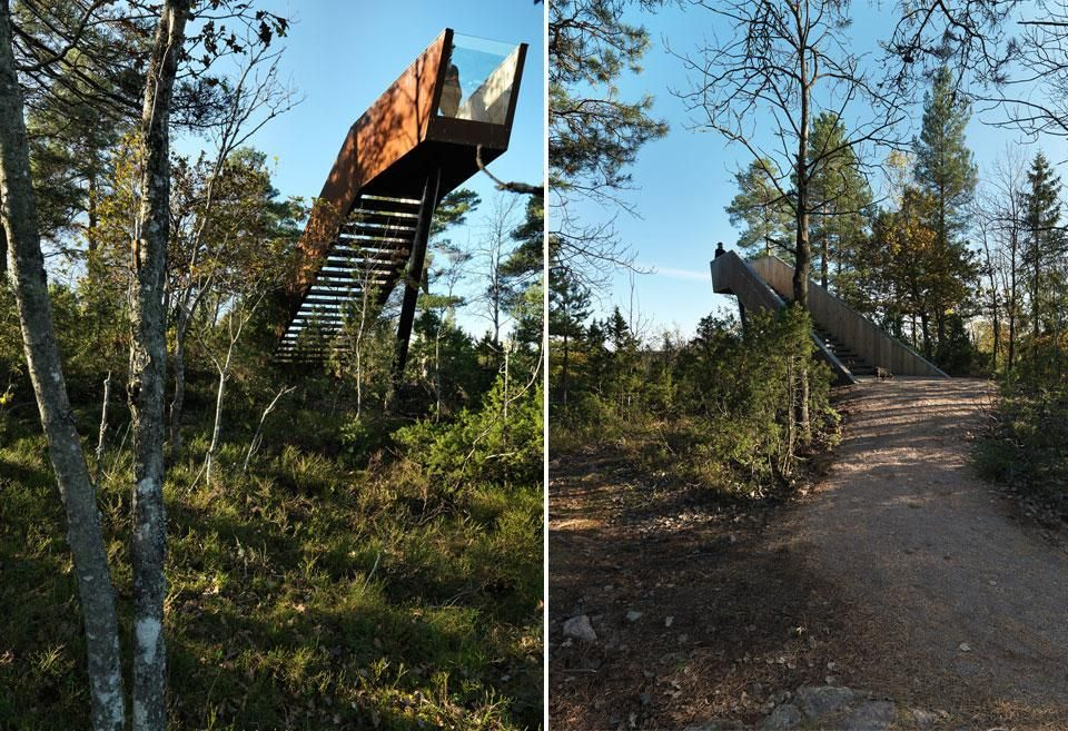 Forest Stair in Sti For Øye Sculpture Park | Stokke, Norway | Saunders Architecture | photo Bent René Synnevåg