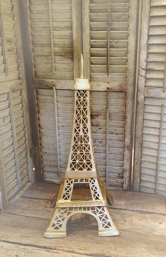 Gold Eiffel Tower Large Statue Paris Decor Table Center Piece, French  Provincial Living Room Decor, FarmHouseFare Add A Bit Of Paris Glam To Your Part 73