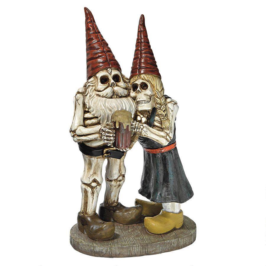 Bones and Brew Skeleton Graveyard Gnomes