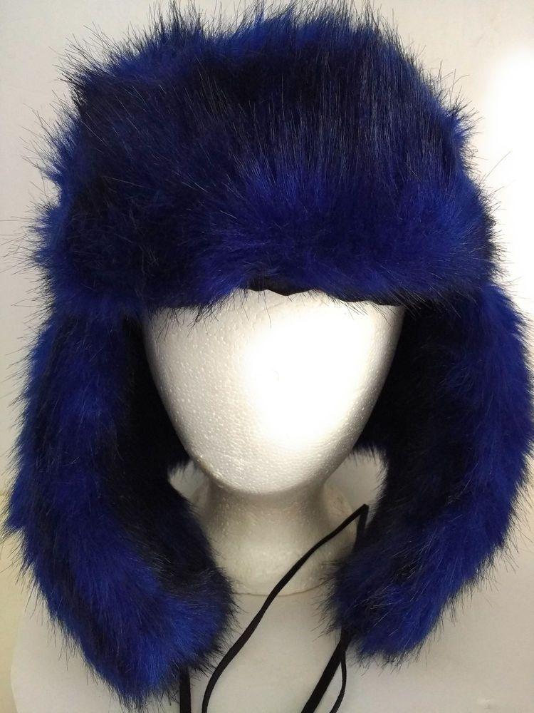 76d63c5b6aa Women s Blue Faux Fur Steve Madden Trapper Bomber Hat  SteveMadden   BaseballCap  Winter