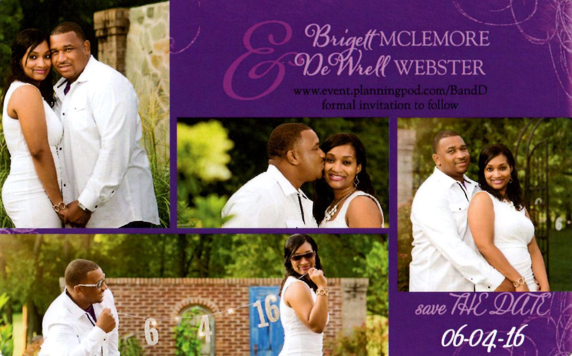 We received this in the mail today! One of our GORGEOUS 2016 couples! Love Love Love!!!