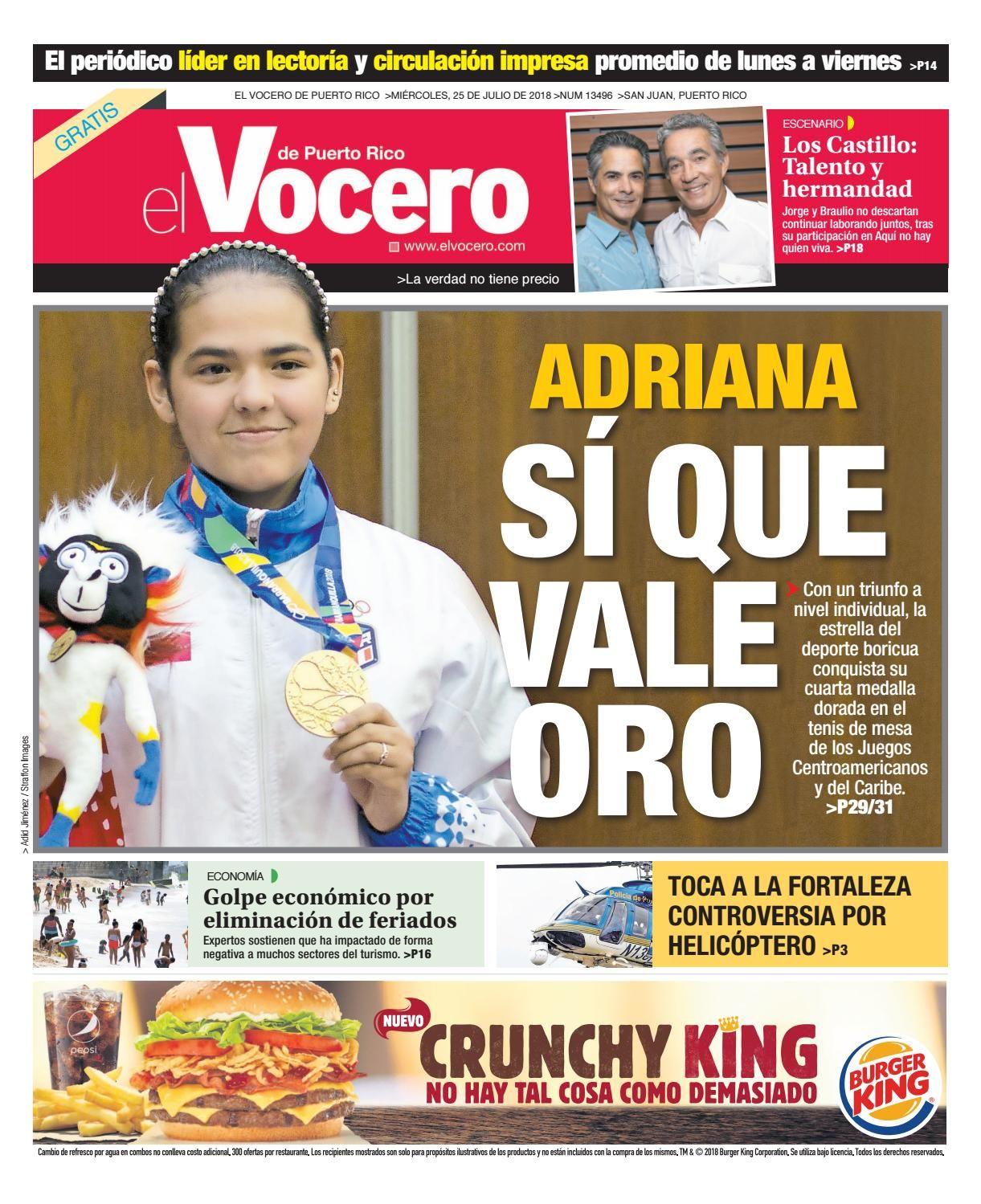 Edición Del 25 De Julio De 2018 25 De Julio Puerto Rico Edicion