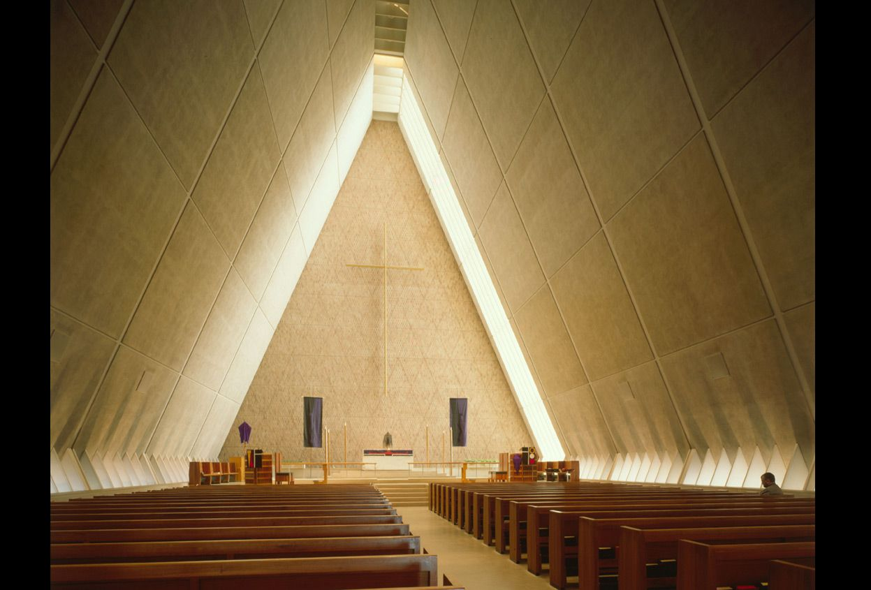The Architecture Of Eero Saarinen   In Focus   The Atlantic   Interior Of  The Chapel At Concordia Theological Seminary, Fort Wayne, Indiana, Circa  (Library ...