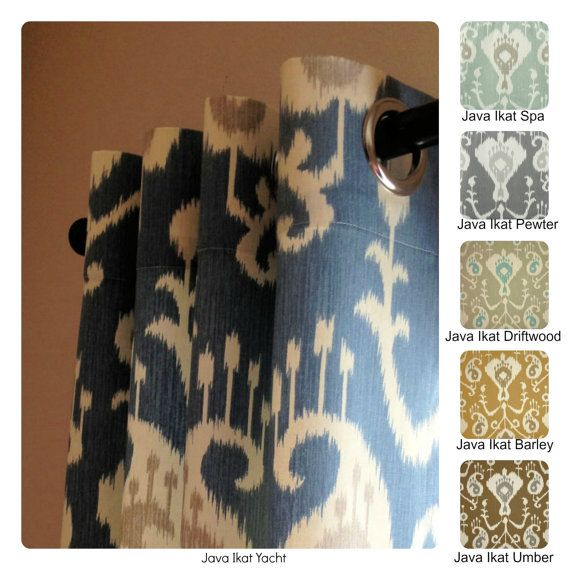 Curtains Ideas curtain panels 72 length : Java Ikat Grommet Curtains Drapery Panels 63 72 84 96 108 or 120 ...