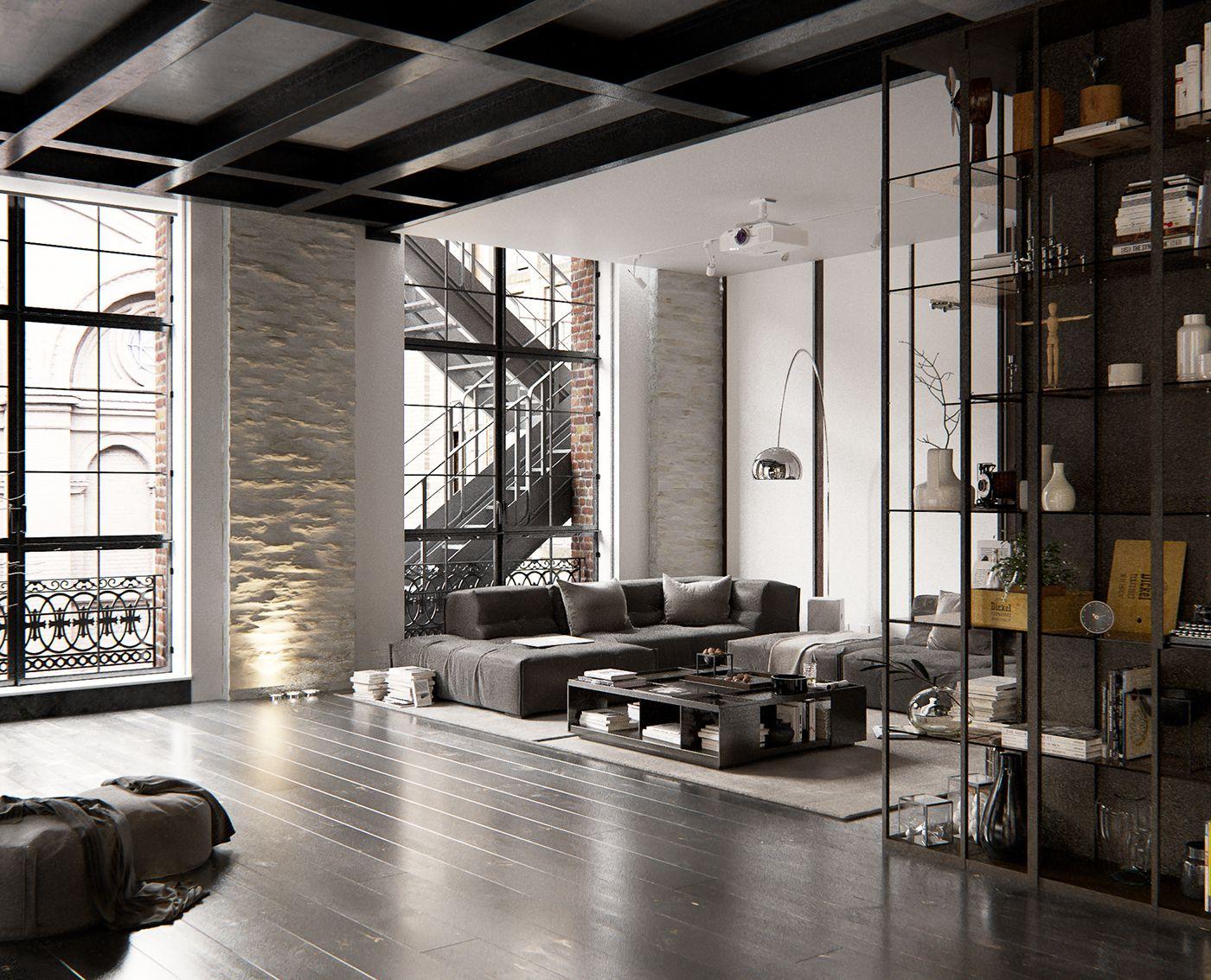 Cosmopolitan Loft Visualized By Andew Sadokha New York Usa Modern