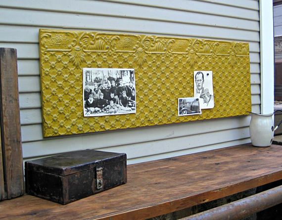 Tin Ceiling Tile. Large 4\' Magnet Board. Antique Architectural ...