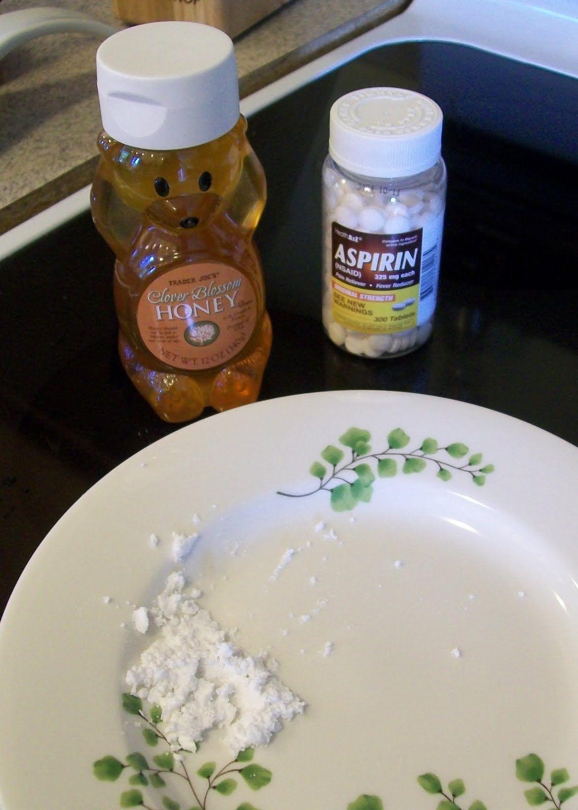 Cheap wife homemade face mask aspirin honey beauty
