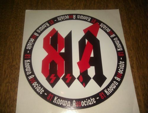 HELLS ANGELS Support 81 Stickers Autocollants Support ton local BRM
