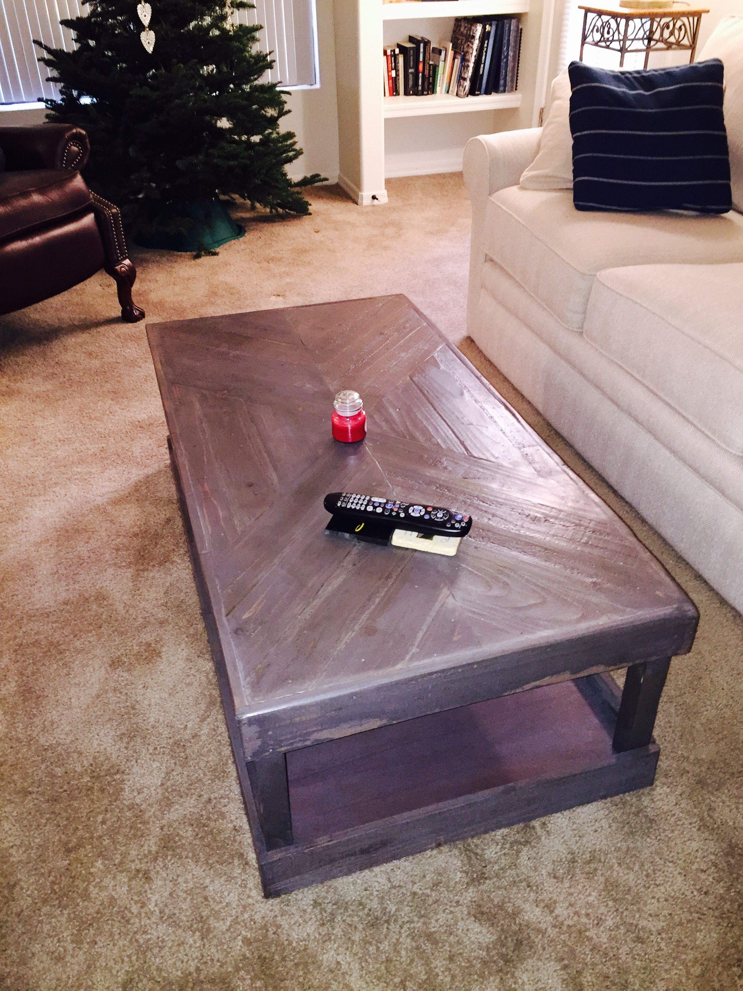 Fabulous Herringbone Coffee Table made by a man who makes my toes