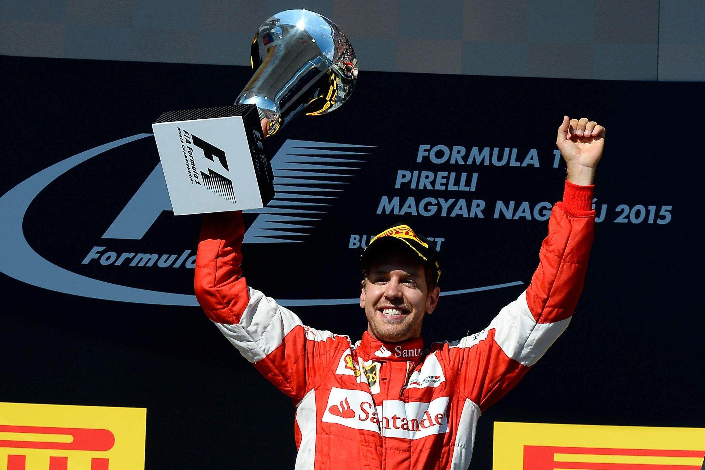 Sebastian Vettel winner Hungary 2015