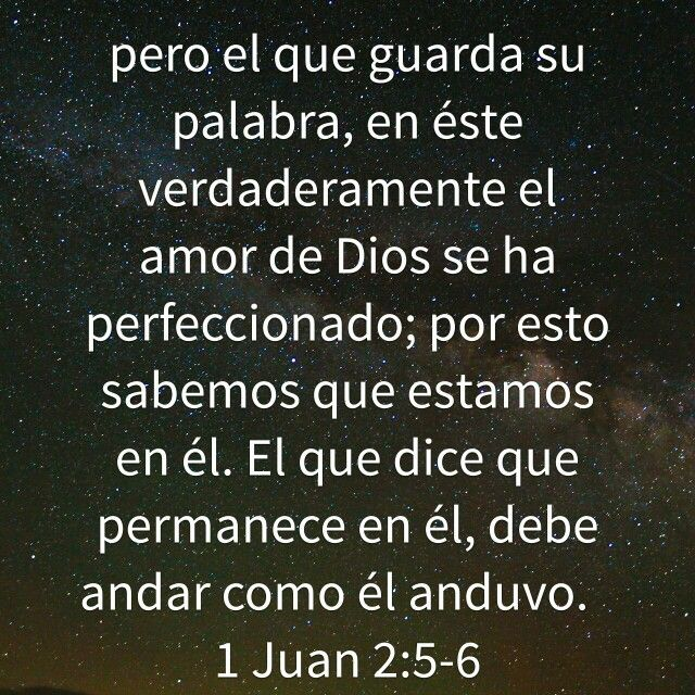 1 Juan 2 5 6 Gods Love God Love