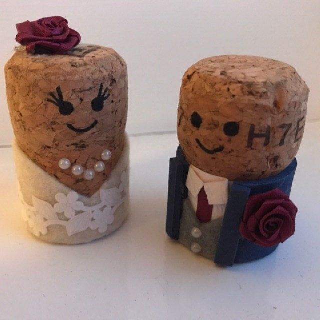 Cork Crafts For Weddings: Personalised Cork Wedding Cake Toppers & By