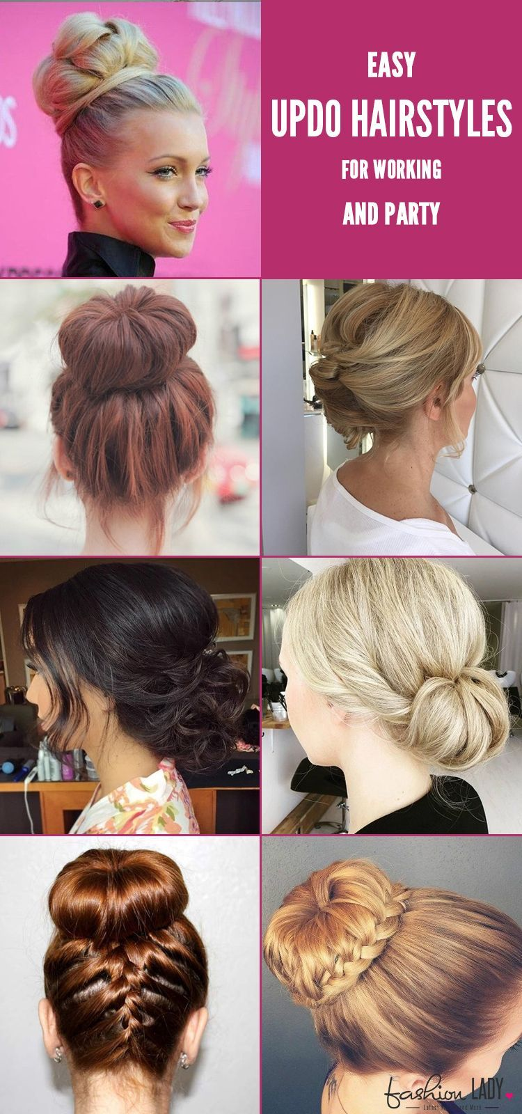 Easy updo hairstyles for working and party easy hairstyles