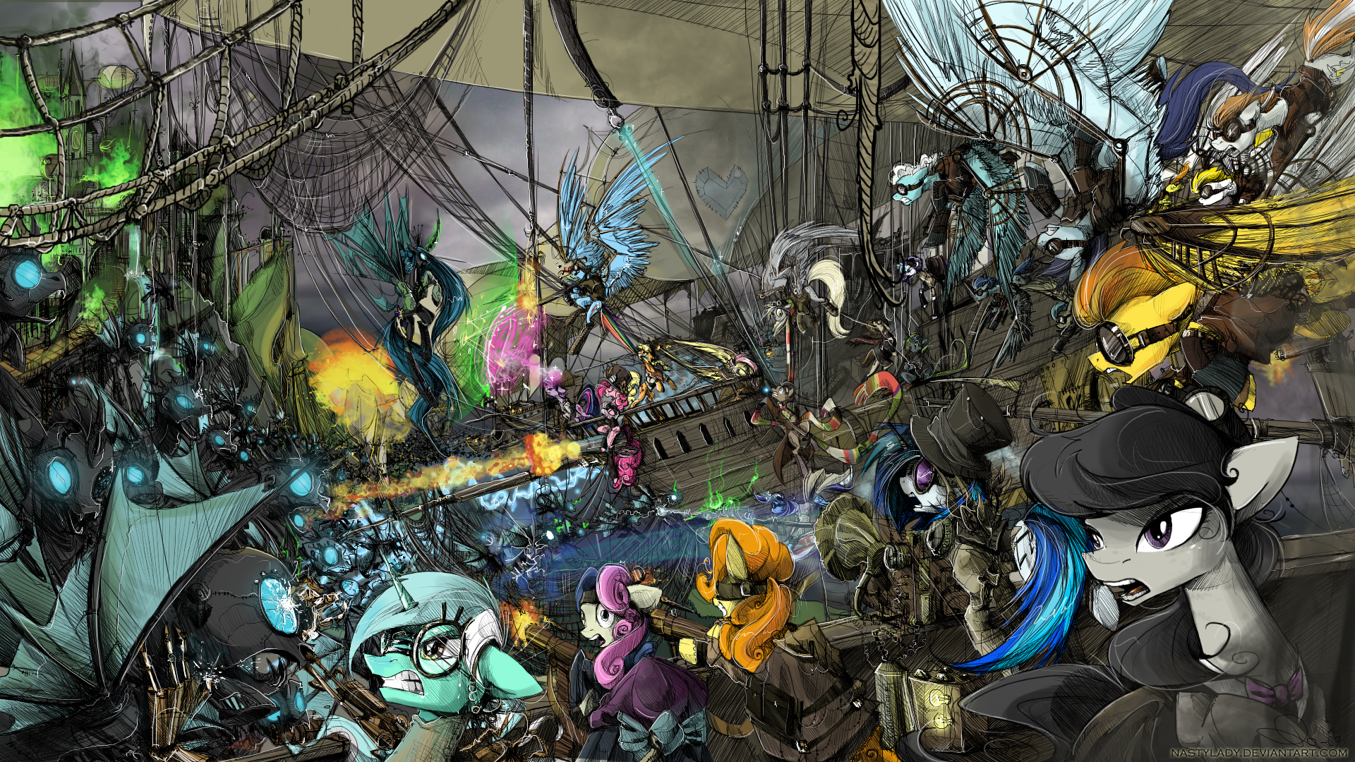 This Is War By Nastylady On Deviantart A Steampunk Mlp Mashup
