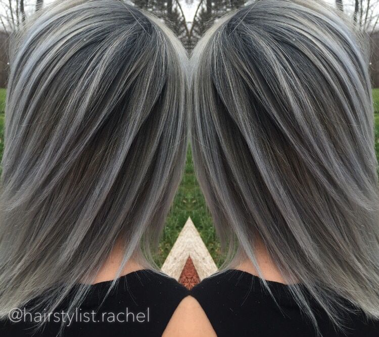 Grey Hair Medium Length Hair L Gray Hair Ash Colored Hair Aveda Hair Color Ombre Hair Color For Brunettes Hair Hair Highlights