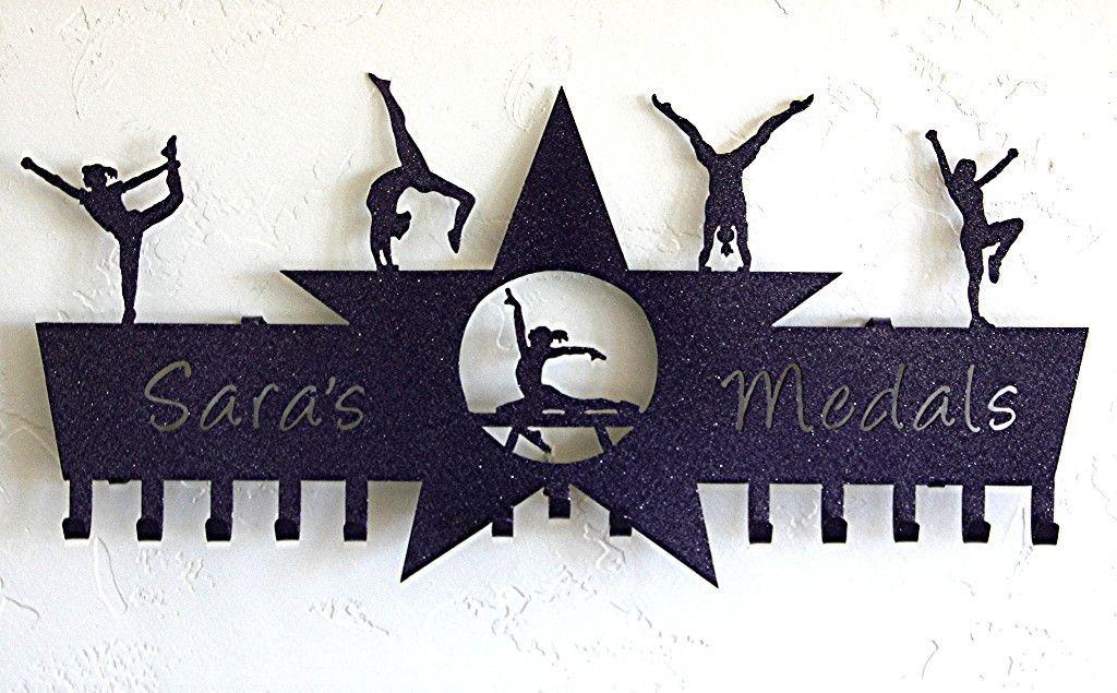 Gymnastics medal holder cheer medal display personalized gifts - Westling muebles ...