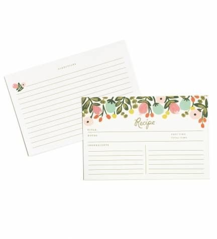 hanging garden recipe cards by rifle paper co made in usa cards
