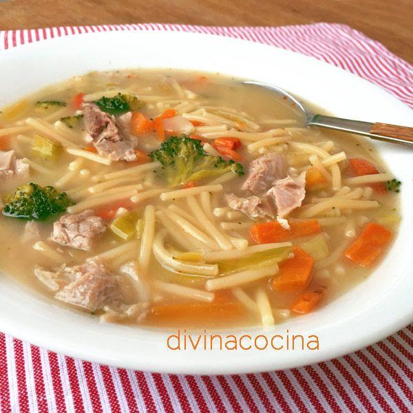 Sopa De Pollo Y Verduras Receta De Divina Cocina Sopa De Pollo Pollo Con Verduras Sopa De Pavo
