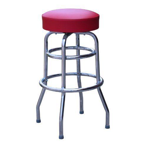 Amazon Com Commercial Grade Red Restaurant Swivel Bar Stool