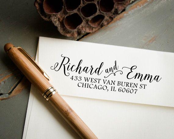 Self Inking Stamp Return Address