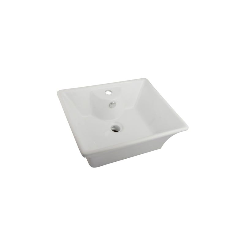 Kingston Br Ev4049 Forte 18 7 8 Rectangular Vitreous China Vessel Sink With