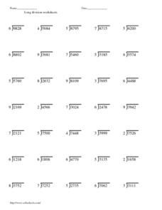 math worksheet : short division 3 s 4 s  6 s no remainders worksheet  hot  : Long Division 4th Grade Worksheets