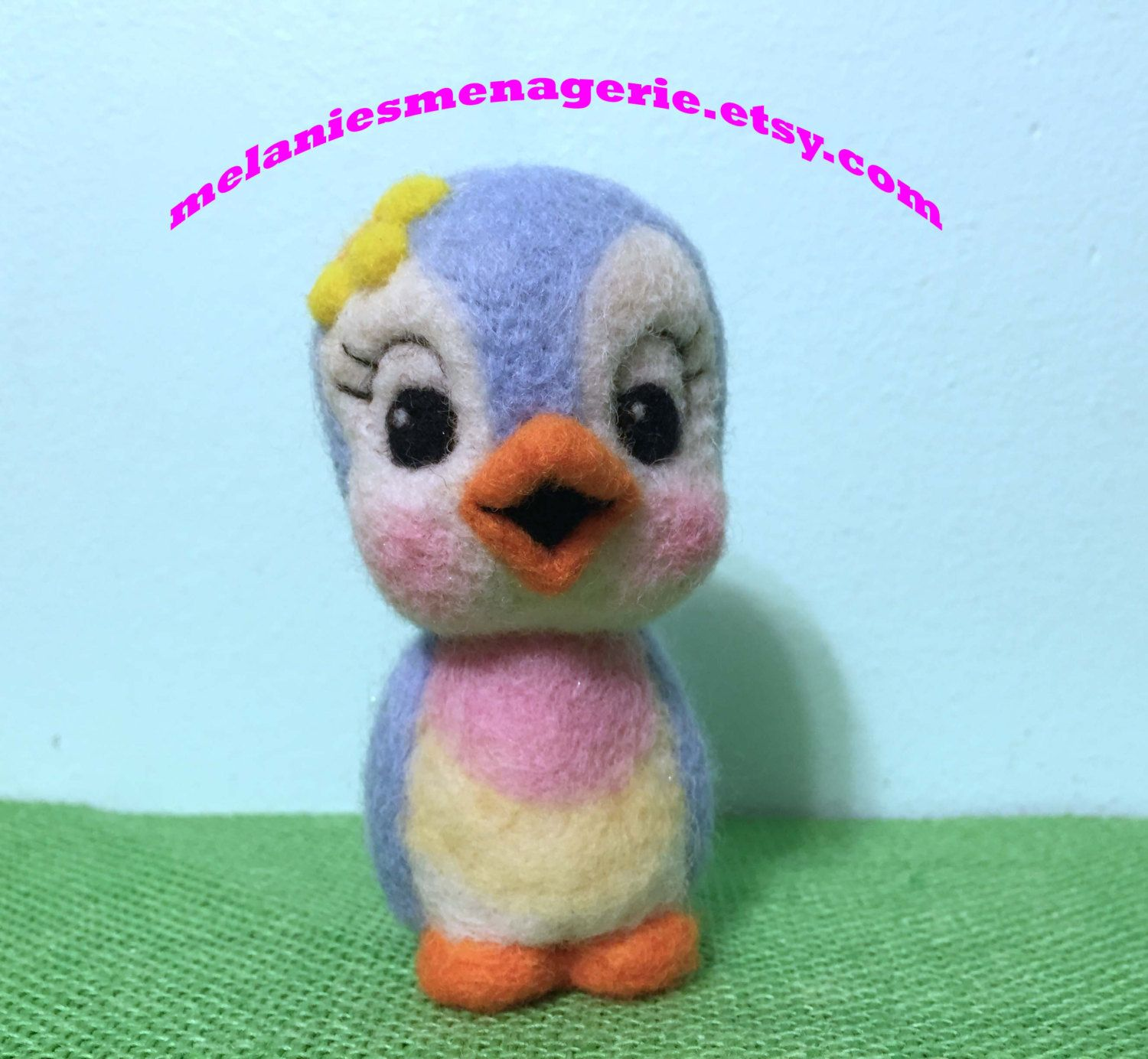 Bluebird of Happiness by Melanie / Felted Bird / Soft Sculpture by MelaniesMenagerie on Etsy
