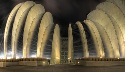 The Kauffman Center for the Performing Arts in Kansas City!