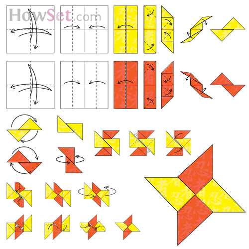 Ninja Star Animated Origami Instructions How To Make Origami
