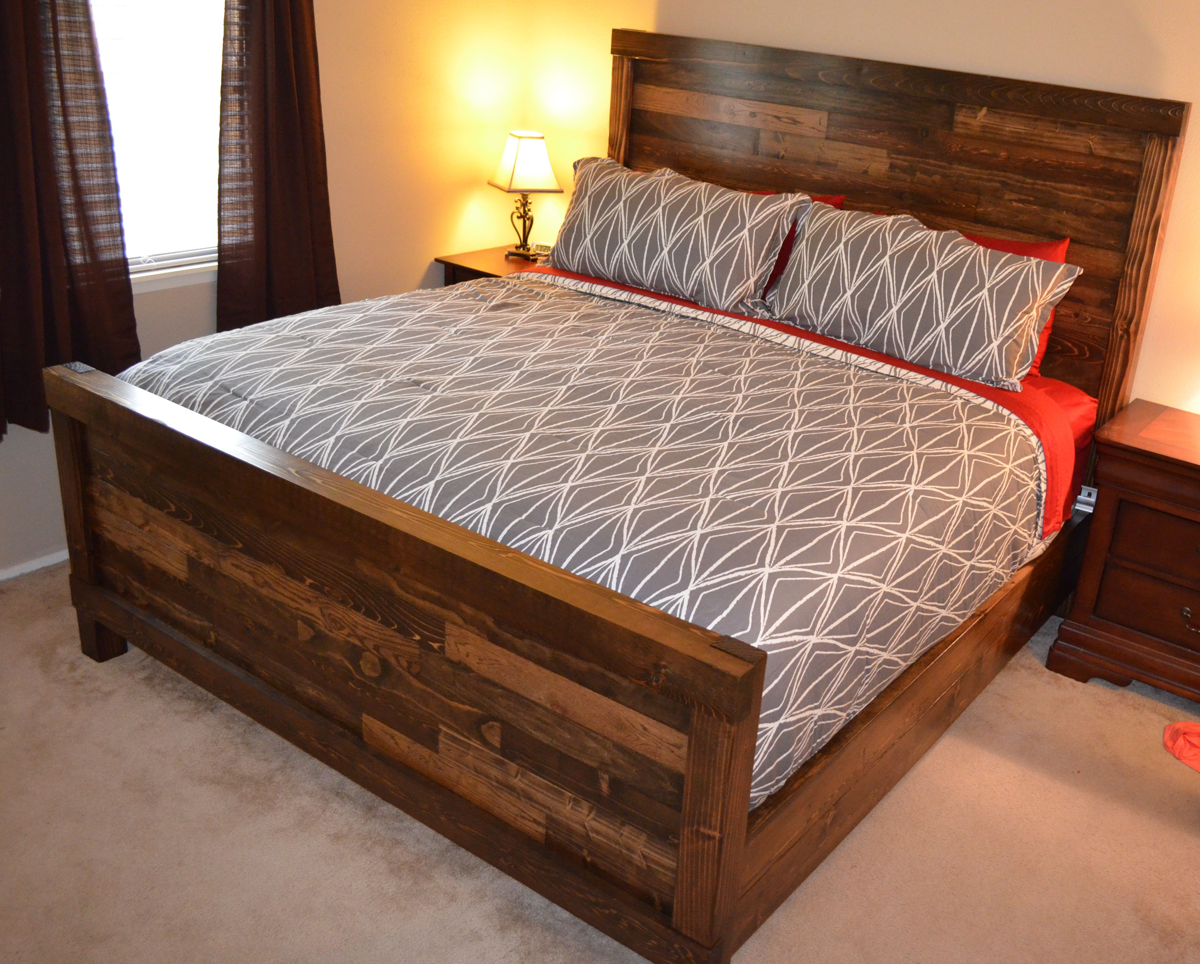 handmade king size farmhouse bed Projects to Try Pinterest
