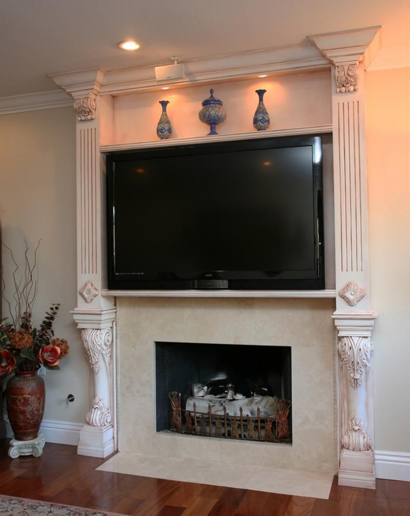 Fireplace with TV above Designs Impressive Fireplace With TV