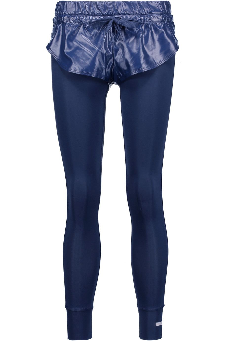 The Short Tight Layered Shell And Stretch Leggings in Dark Blue. Find this  Pin and more on Adidas By Stella Mccartney ...