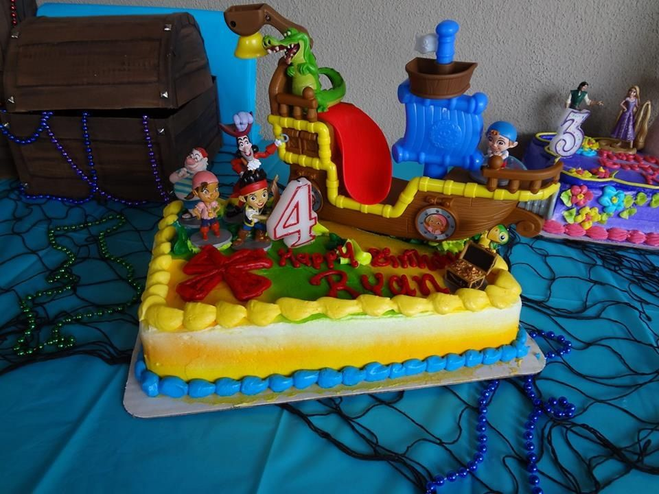 Ryans jake and the neverland pirates cake The cake was purchased