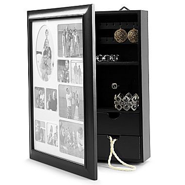 jewelry box wall mount picture frame jcpenney only 40 for the home pinterest wall. Black Bedroom Furniture Sets. Home Design Ideas