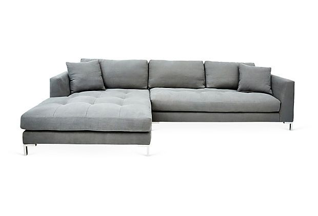 Walden Left Facing Sectional Gray New Basics One