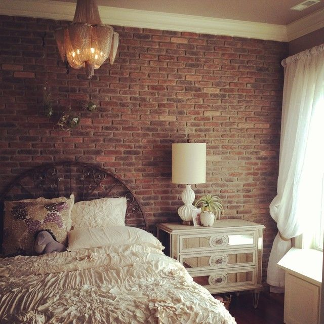 Pin By Amira Cherif On Bedroom Brick Wallpaper Bedroom Red Brick Wallpaper Bedroom Brick Wall Bedroom