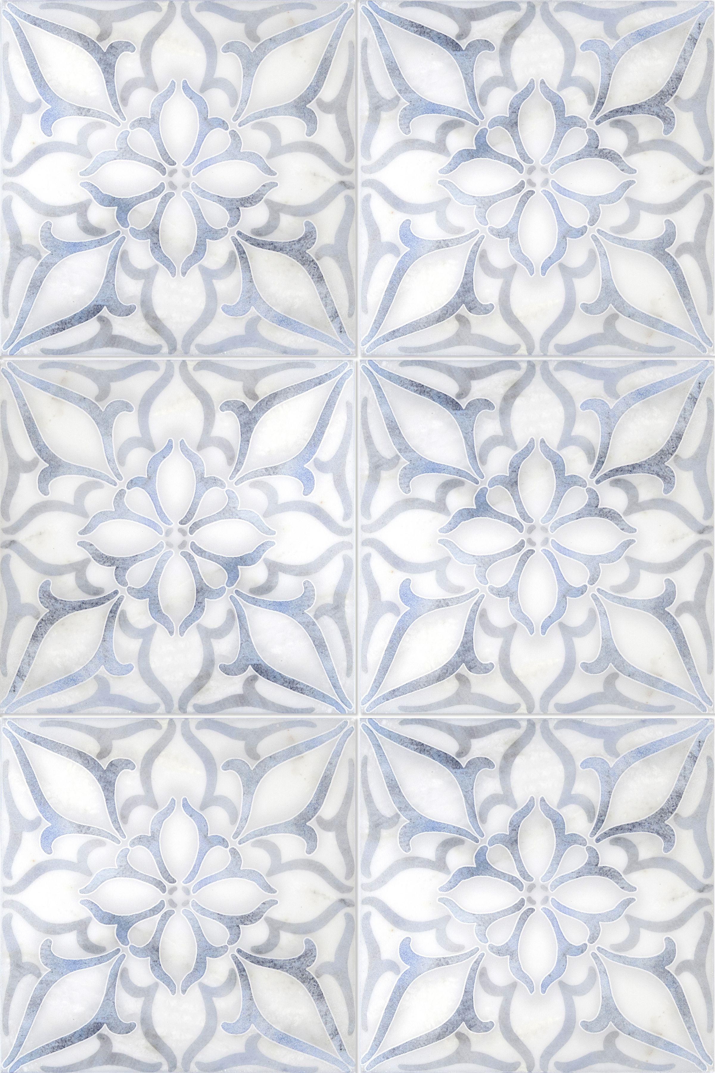Petals Collection Patterned Tile Backsplash Artisan Stone Tile