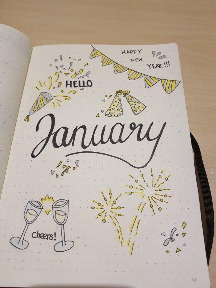 New Year ~ New Beginnings ~ New Bullet Journal Inspiration ~ January