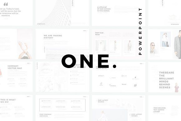 ONE Minimal PowerPoint Template by SlidePro on @creativemarket