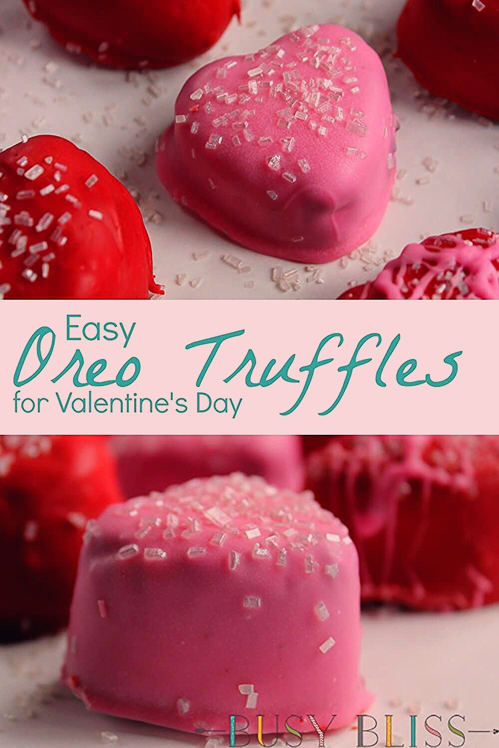 Photo of Easy No Bake Oreo Cookie Truffles for Valentine's Day – Busy Bliss