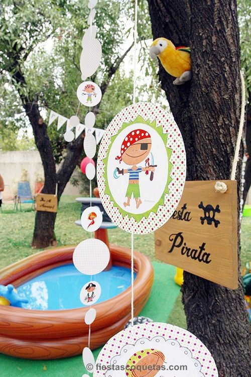Decoraci n jard n fiesta infantil pirata ideas para for Decoracion de jardines para fiestas
