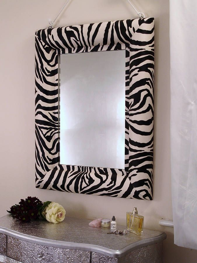 Zebra print mirror by xxxxxxxxxxx for Room decor zebra print