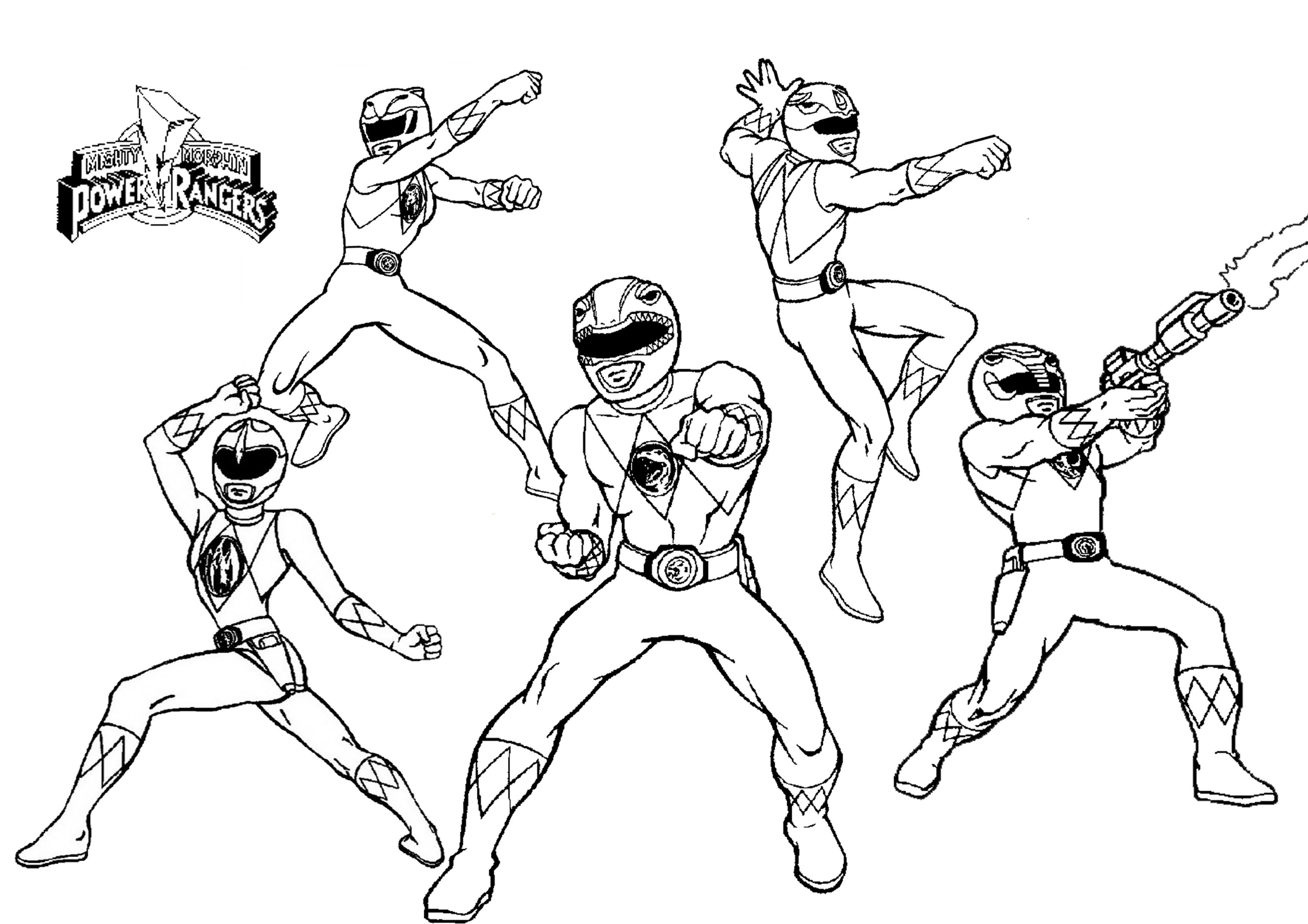 power rangers coloring page # 4