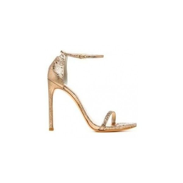 Stuart Weitzman Bronze Foil Nappa Nudist Sandals ❤ liked on Polyvore featuring shoes, sandals, bronze shoes, bronze sandals, stuart weitzman shoes, stuart weitzman sandals and stuart weitzman