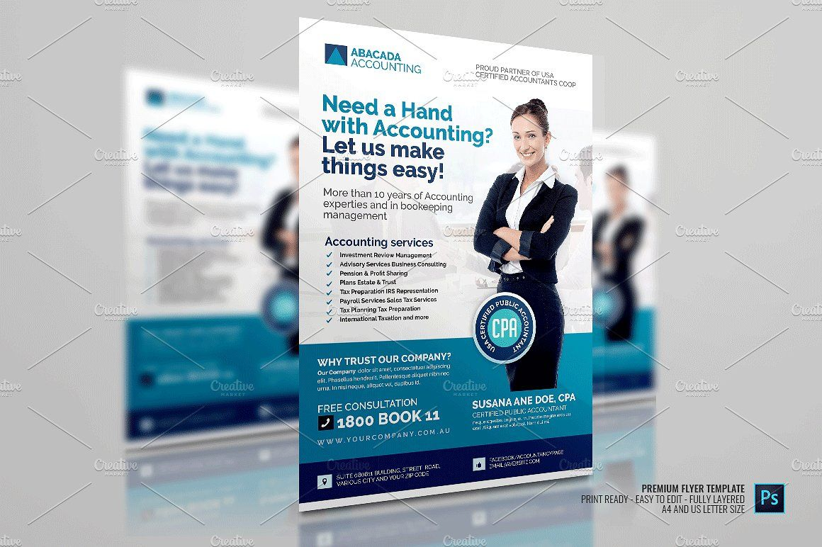 Accounting Advertisement Template