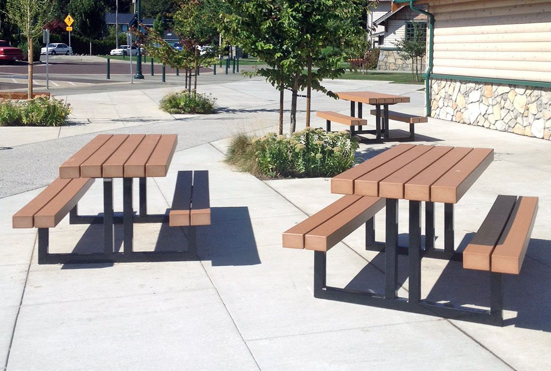 Greenway Picnic Tables Made With Recycled Plastic Lumber Made By - Picnic table recycled plastic lumber