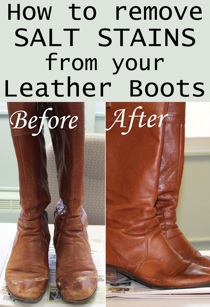 How To Remove Salt Stains From Your Leather Boots Cleaning