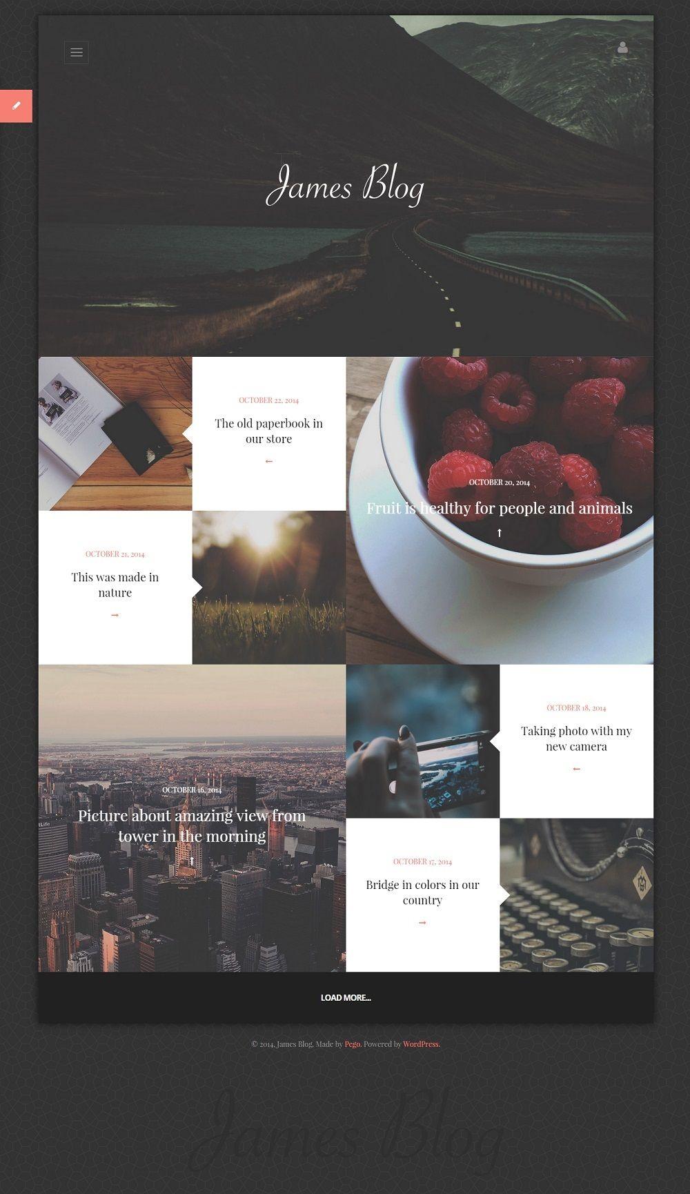 James Blog – Clean Personal Blog WordPress theme | Templates ...