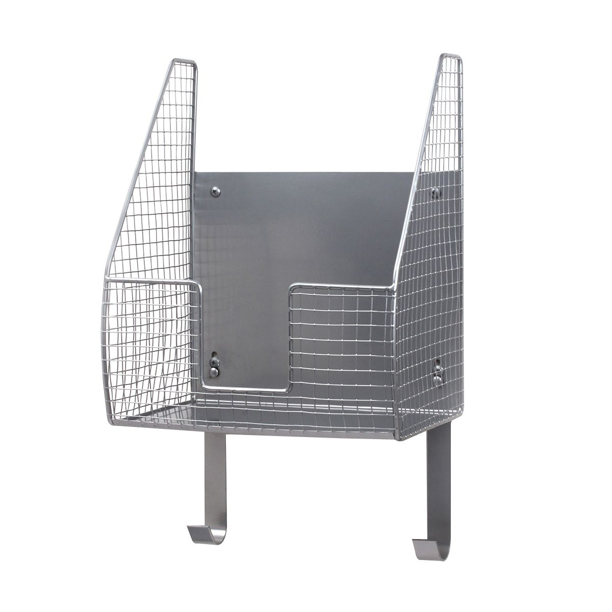 Spectrum Diversified Ironing Board Holder With Storage Basket Heat Resistant Ironing Board Holder Open Wire Storage Basket Laundry Room Decor Organization In 2020 Wire Basket Storage Storage Baskets Ironing Board Holder